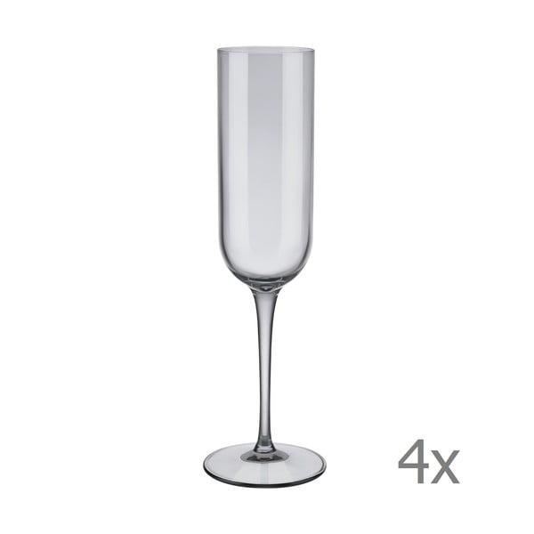 Mira 4 db szürke pezsgőspohár, 210 ml - Blomus