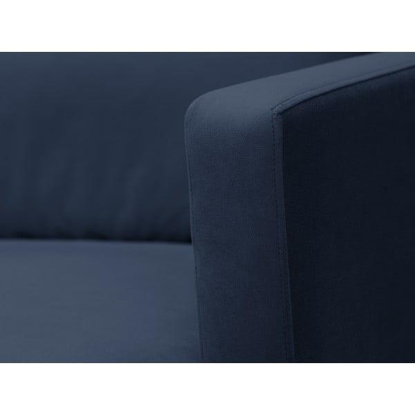 Tmavě modrá dvojmístná pohovka s podnožím ve zlaté barvě Windsor & Co Sofas Jupiter