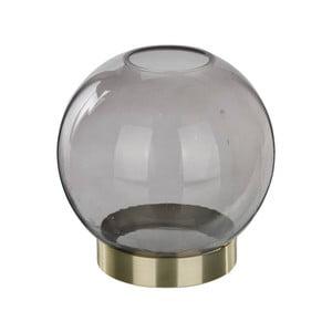 Černá transparentní váza Native Globe, ⌀12 cm