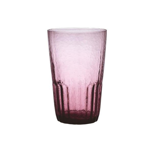 Fialová sklenice Kinto Dew, 420 ml