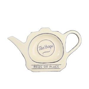 Suport ceramică pentru pliculețe de ceai T&G Woodware  Pride of Place, crem