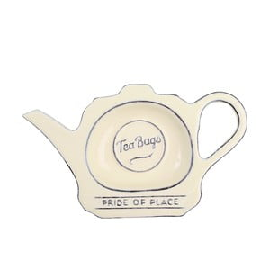 Krémový keramický stojánek na čajové sáčky T&G Woodware Pride Of Place