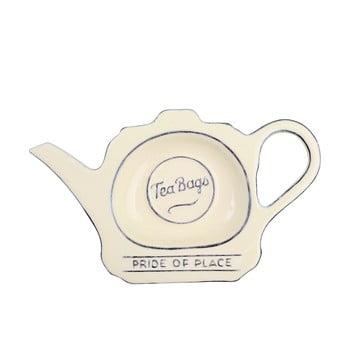 Suport ceramică pentru pliculețe de ceai T&G Woodware Pride of Place, crem imagine