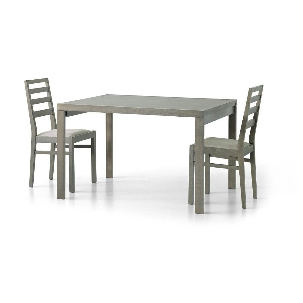 Béžový dřevěný rozkládací jídelní stůl Castagnetti Tavolo, 120 cm