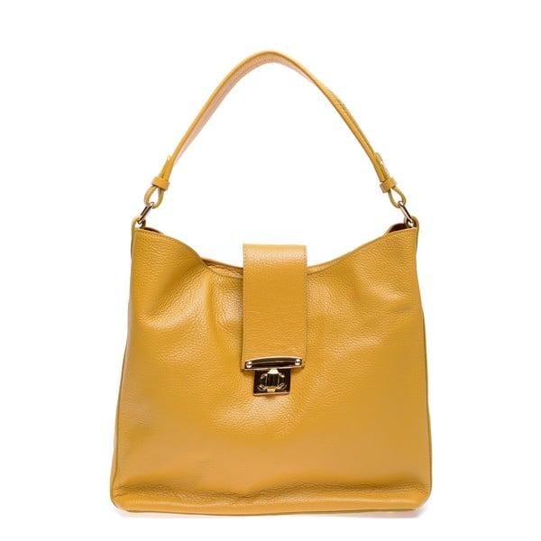 Żółta skórzana torebka Roberta M Bria
