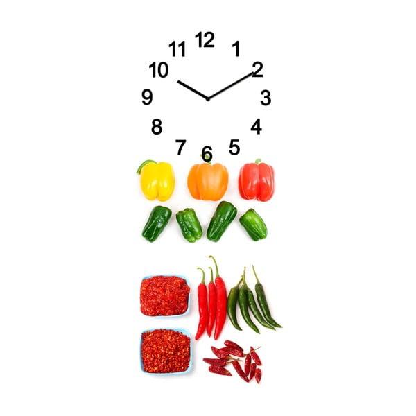 Skleněné hodiny Zelenina, 20x50 cm