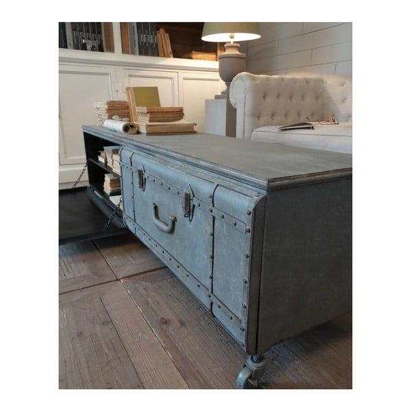Konferenční stolek s úložným prostorem Suitcase Antique