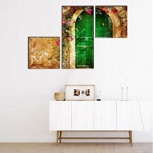 3dílný obraz Asymetric Doorm 60x90 cm