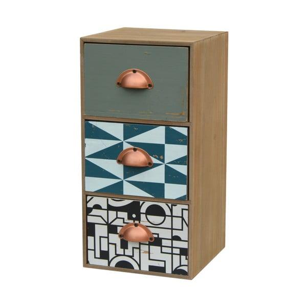Dulăpior pentru birou cu 3 sertare din lemn de brad Livin Hill Portofino