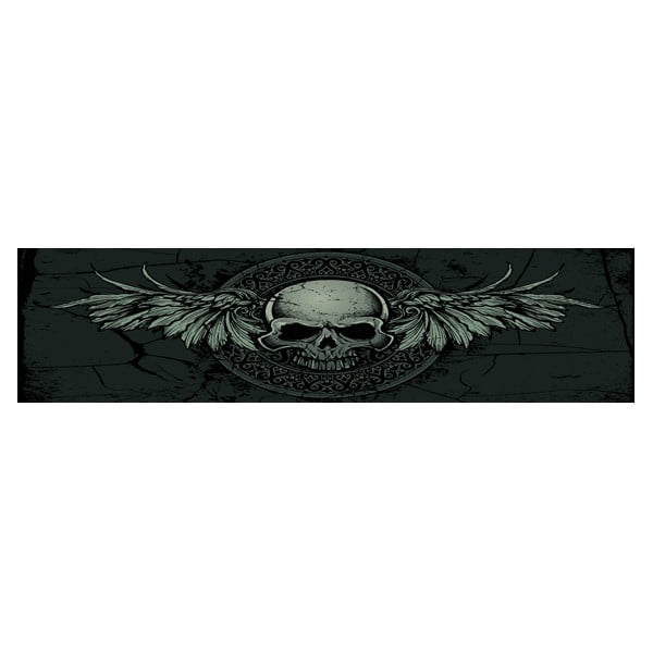 Postel Karup Eagle Black/Black Scull,  140x200 cm