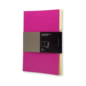Sada 3 ks složek Moleskine Folio Filer Hot Pink, A4