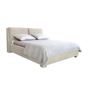 Béžová dvoulůžková postel Mazzini Beds Vicky, 140x200cm