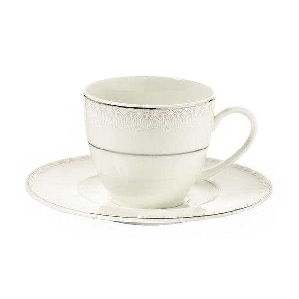 Sada 6 porcelánových šálků s podšálkem Kutahya Espresso, 80 ml