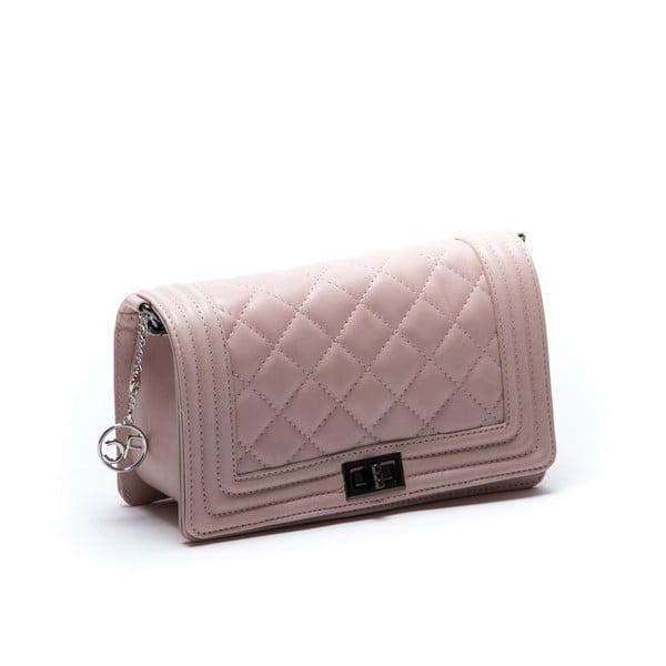 Kožená kabelka Fiola, růžová