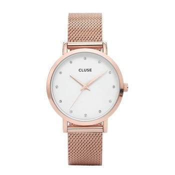 Ceas damă Cluse Pavane, roz-auriu