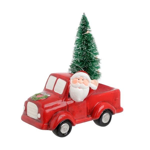 Vánoční keramická dekorace ve tvaru autíčka InArt Santa Car
