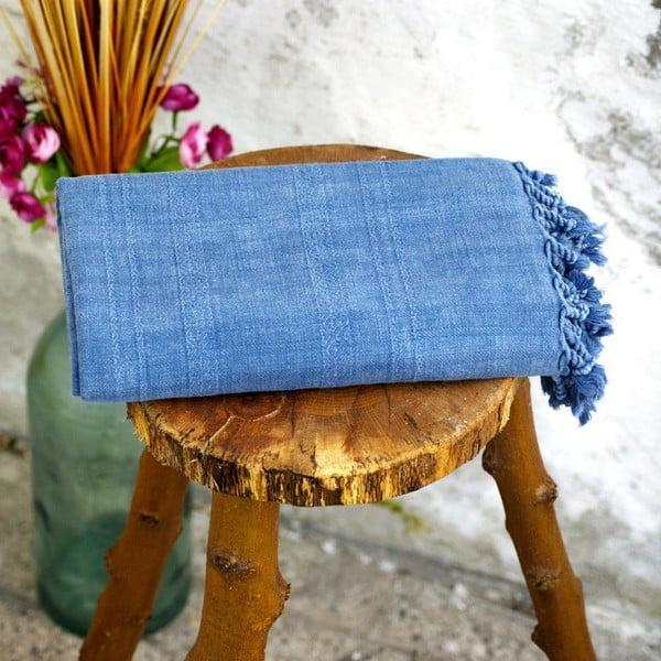 Hamam osuška Peshtemal Blue, 80x160 cm
