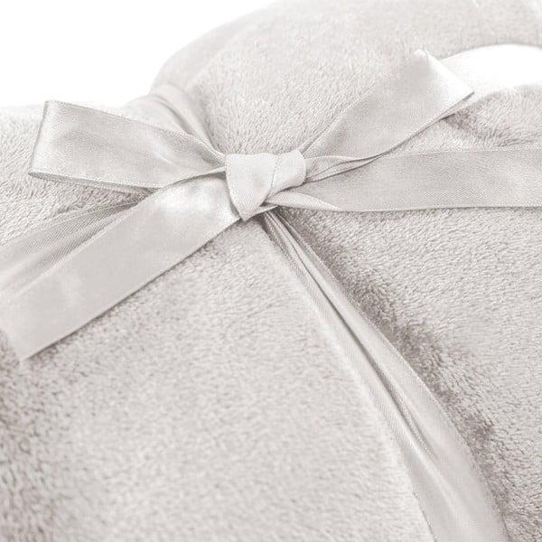 Pătură din microfibră DecoKing Mic, 200 x 220 cm, crem