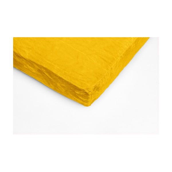 Cearceaf din micropluș My House, 90 x 200 cm, galben