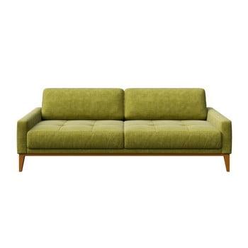 Canapea cu 3 locuri MESONICA Musso Tufted, verde imagine