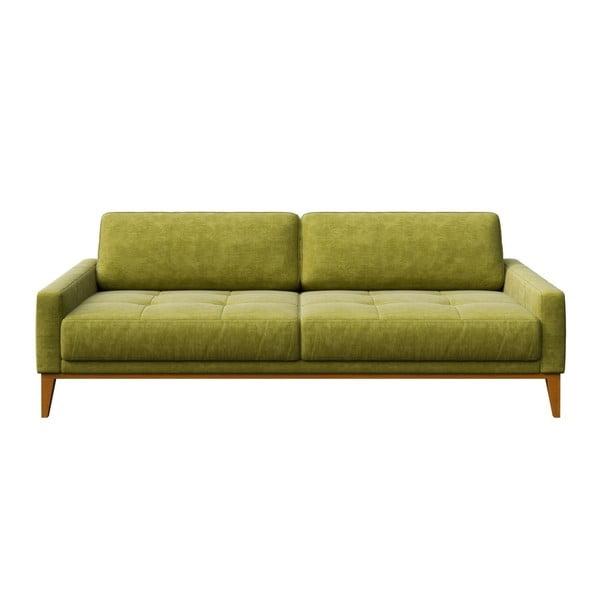 Zelená třímístná pohovka MESONICA Musso Tufted