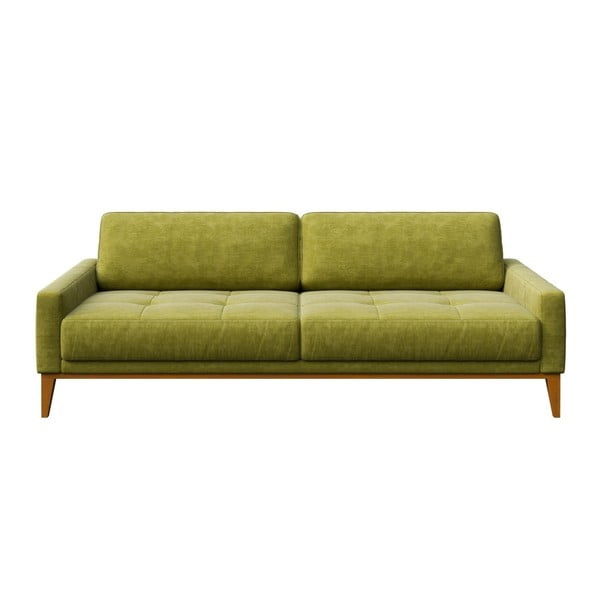 Zelená trojmiestna pohovka MESONICA Musso Tufted