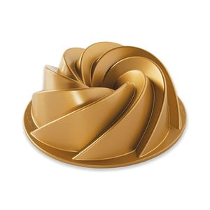 Forma na bábovku ve zlaté barvě Nordic Ware Heritage, 1,4l