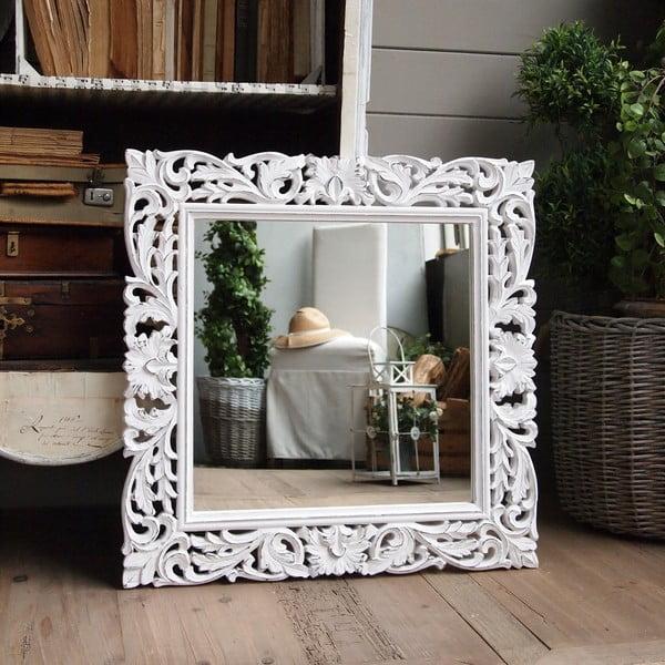 Zrcadlo Milano White, 70x70 cm