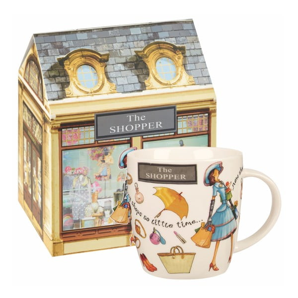 Hrnček z kostného porcelánu Churchill China The Shopper, 400 ml
