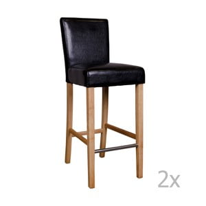 Sada 2 černých barových židlí House Nordic Boden