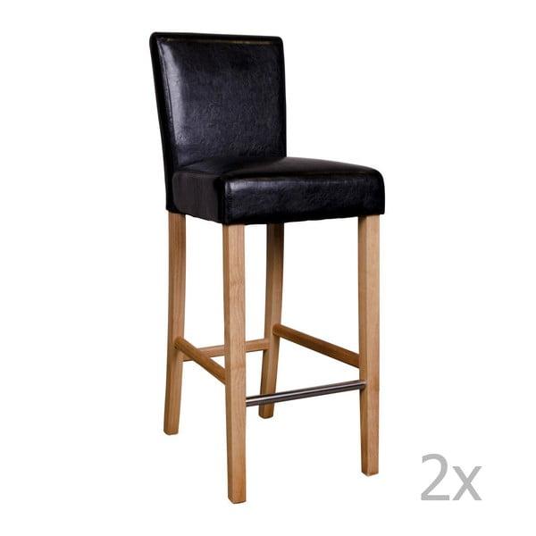 Set 2 scaune de bar House Nordic Boden, negru