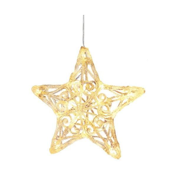 Závěsná svítící hvězda Best Season Crystal Snowflake, 25 cm