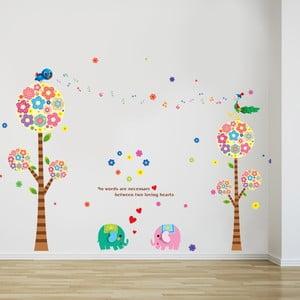 Samolepka na stěnu Elephant Love, 60x90 cm