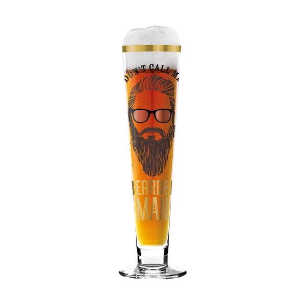 Set pivní sklenice z křišťálového skla a 5 podtácků Ritzenhoff Alice Wilson, 385 ml
