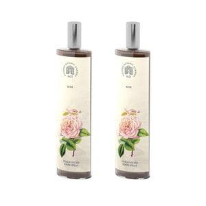 Sada 2 interiérových vonných sprejů s vůni růže Bahoma London Fragranced, 100ml