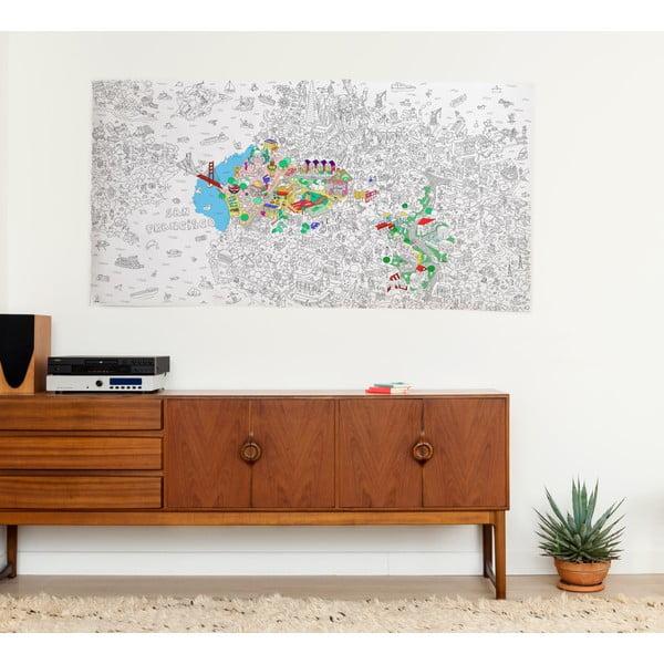 Omalovánka OMY San Francisco XXL (180 x 100 cm)