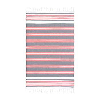 Prosop de plajă Kate Louise Cotton Collection Line, 100 x 180 cm, roșu-gri