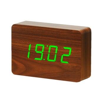 Ceas deșteptător cu LED Gingko Brick Click Clock, maro-verde de la Gingko