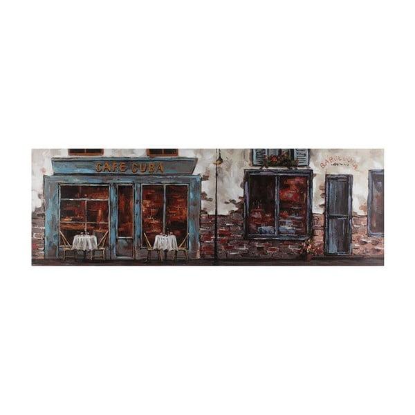 Olejová malba Café Cuba, 50x150 cm