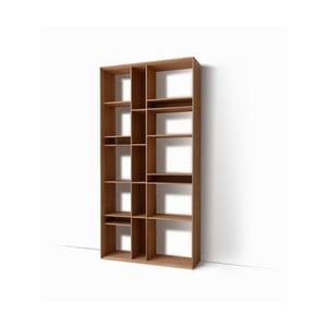 Nástěnná knihovna z masivního dubového dřeva Javorina Link