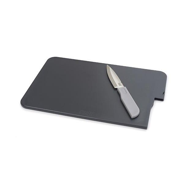 Krájecí prkénko s nožem Slice&Store, šedé