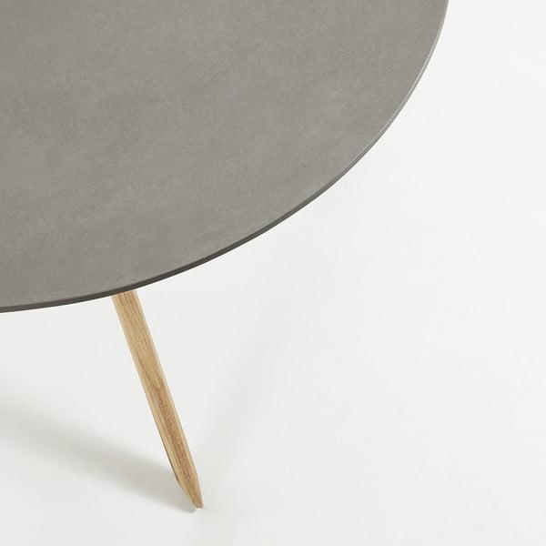 Jídelní stůl se světle šedou deskou La Forma Glow,Ø120cm