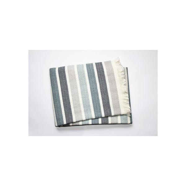 Modro-šedá deka Euromant Ocean, 140x180cm