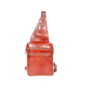 Hnědý kožený batoh přes rameno Italia in Pogress Martino