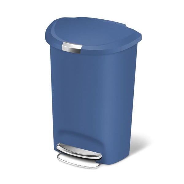 Pedálový koš na odpadky Roundes, 50 l modrý