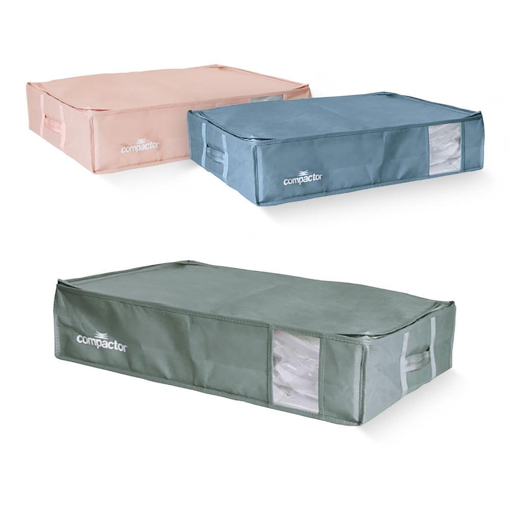 Sada 3 úložných boxů s vakuovým obalem Compactor Color Edition Large