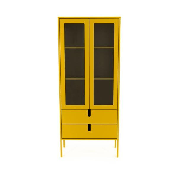Vitrină Tenzo Uno, lățime 76 cm, galben