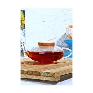 Skleněná čajová konvička s bambusovým víčkem Kutahya Roiboos