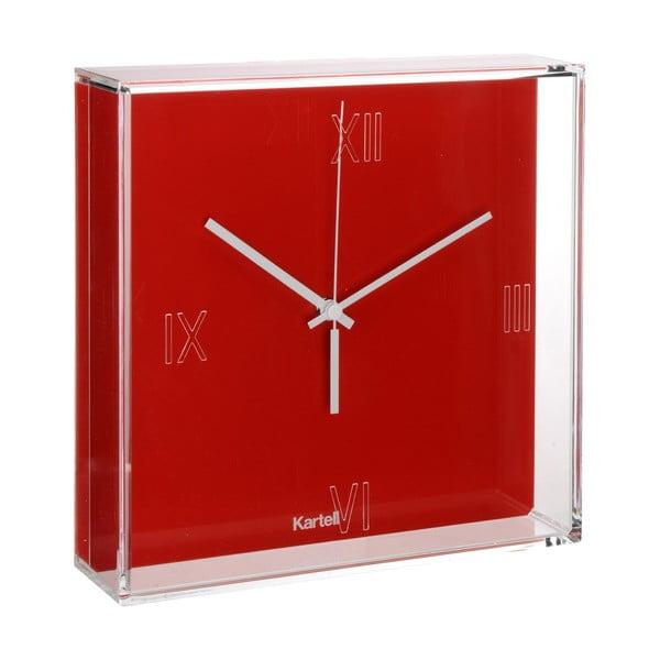 Červené nástěnné hodiny Kartell Tic Tac