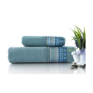 Set dvou ručníků Golf Water Green, 70x140 a 50x90 cm